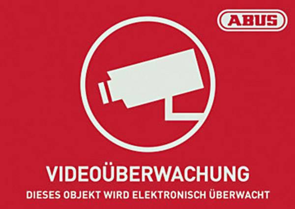 Výstražná samolepka, Jazyky: němčina (š x v) 74 mm x 52.5 mm ABUS AU1421