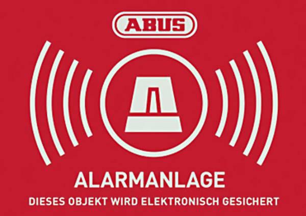 Výstražná samolepka, Jazyky: němčina (š x v) 74 mm x 52.5 mm ABUS AU1423