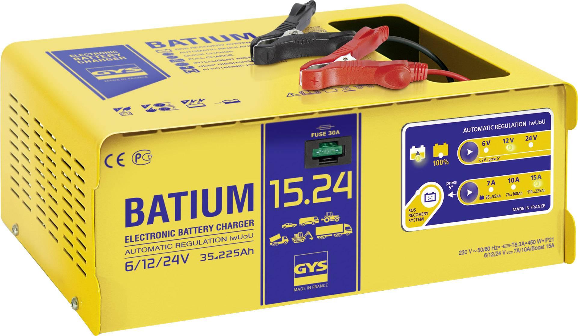 Automatická nabíjačka GYS Batium 15.24 6, 12 V, 24 V
