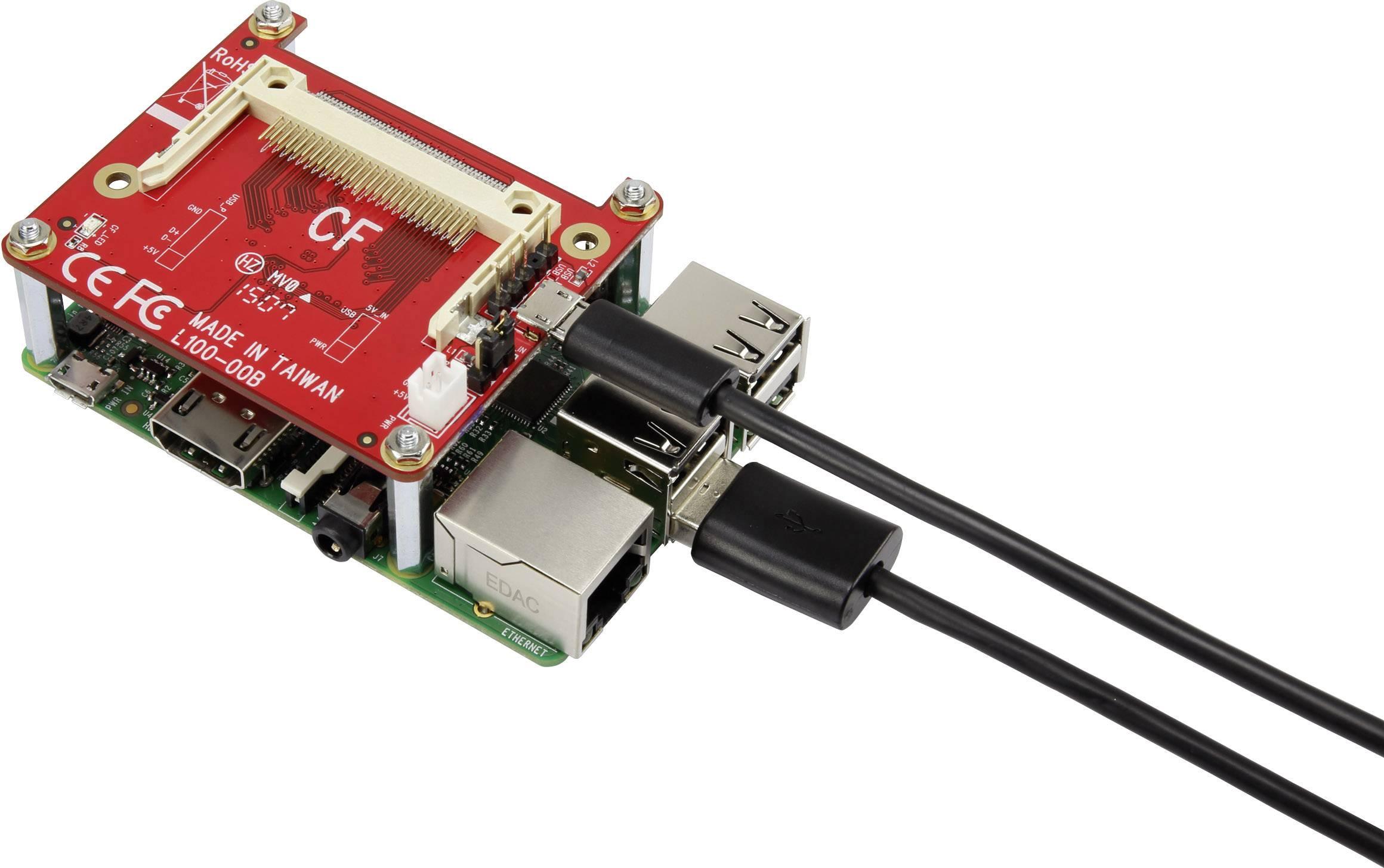 Adaptér USB na Compact Flash pre mini počítač Raspberry Pi