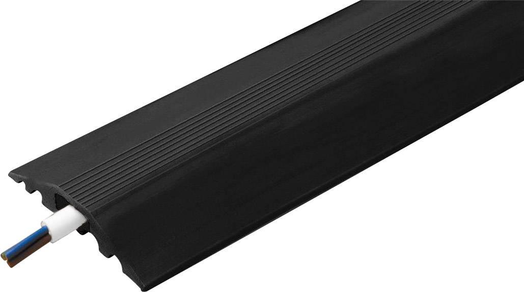 Káblový mostík Vulcascot 26302130 CABLE SAFE RO7, (d x š x v) 3000 x 68 x 11 mm, čierna, 1 ks