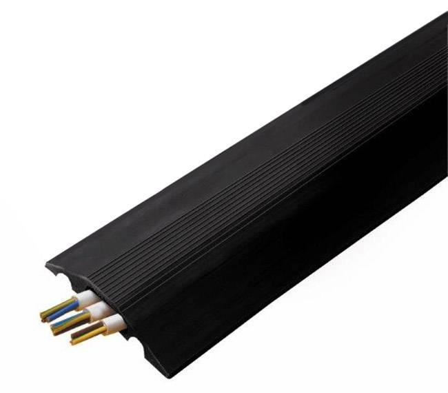 Káblový mostík Vulcascot 26302132 CABLE SAFE RO7/B, (d x š x v) 3000 x 84 x 14 mm, čierna, 1 ks