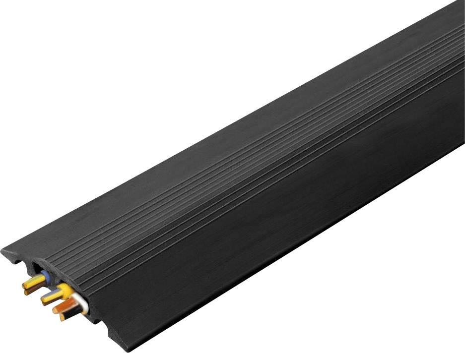 Káblový mostík Vulcascot 26302134 CABLE SAFE RO6, (d x š x v) 3000 x 88 x 14 mm, čierna, 1 ks