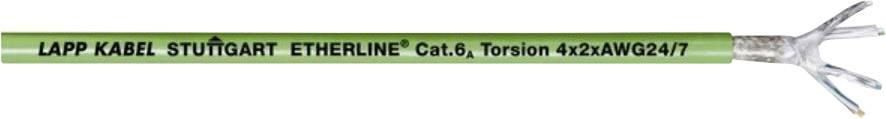 Ethernetový síťový kabel LappKabel ETHERLINE TORSION P CAT6A 4X2XAWG24/7, S/UTP, 2 x 2 x 0.20 mm², zelená, 100 m