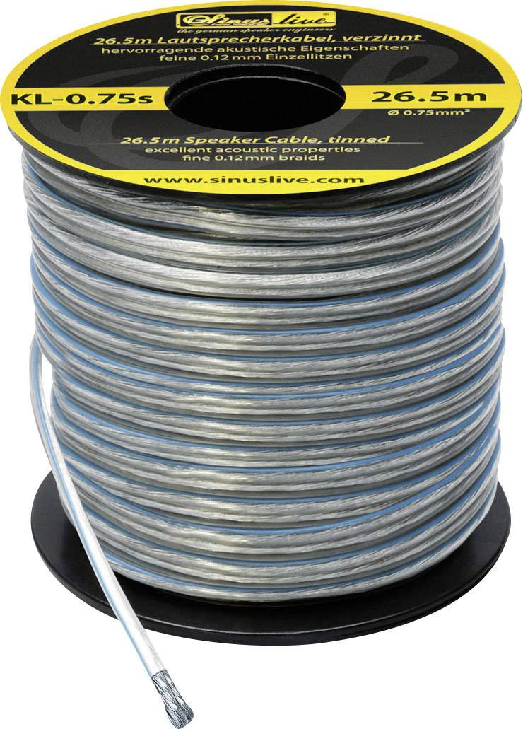 Sada káblov SinusTec KL-0,75s, 14090, 0,75 mm², 26,5 m