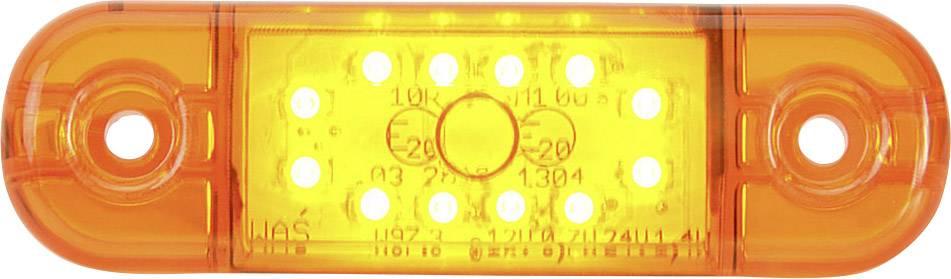 Zadné LED obrysové svetlo SecoRüt, 95714, krátke, oranžová / transparentná