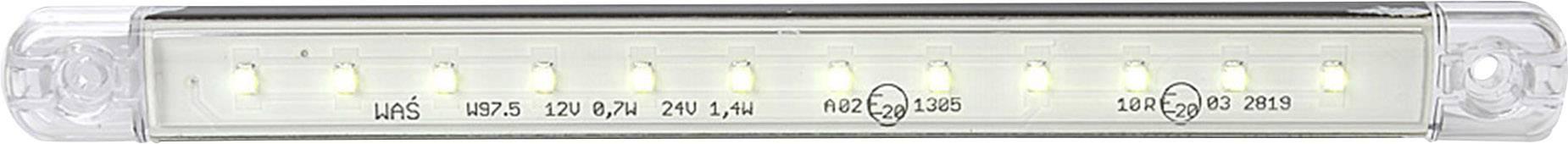 Zadní LED obrysové světlo SecoRüt, 95722, dlouhé, bílá/transparentní
