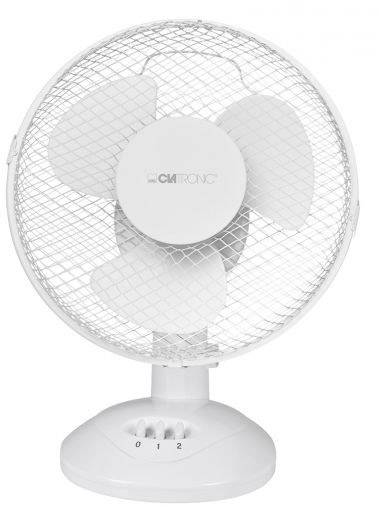 Stolní ventilátor Clatronic VL 3601, 23 xm, 30 W, (Ø x v) 23 cm x 29 cm, bílá