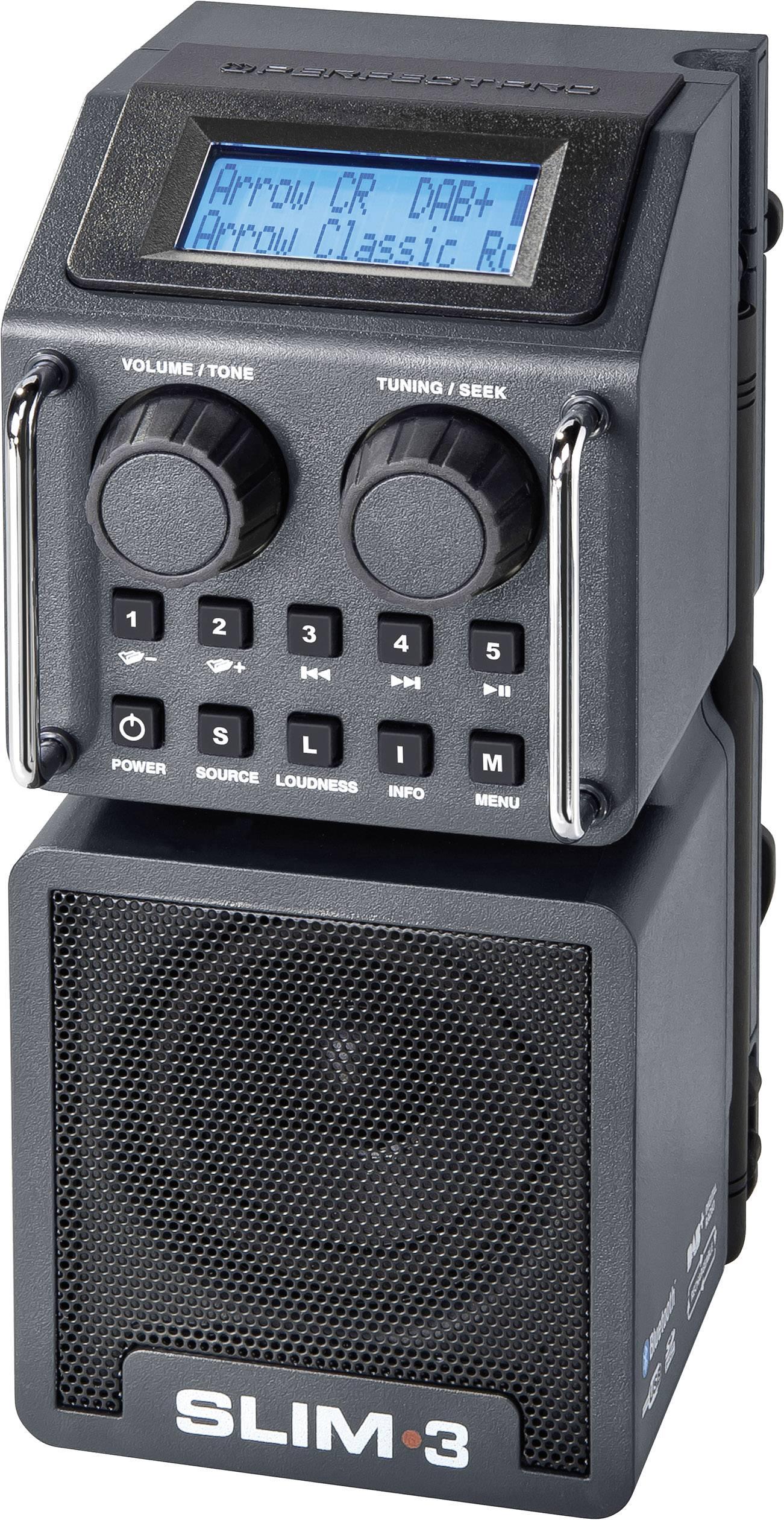 Outdoorové a záhradné DAB+ a FM rádio PerfectPro Slim 3, RDS