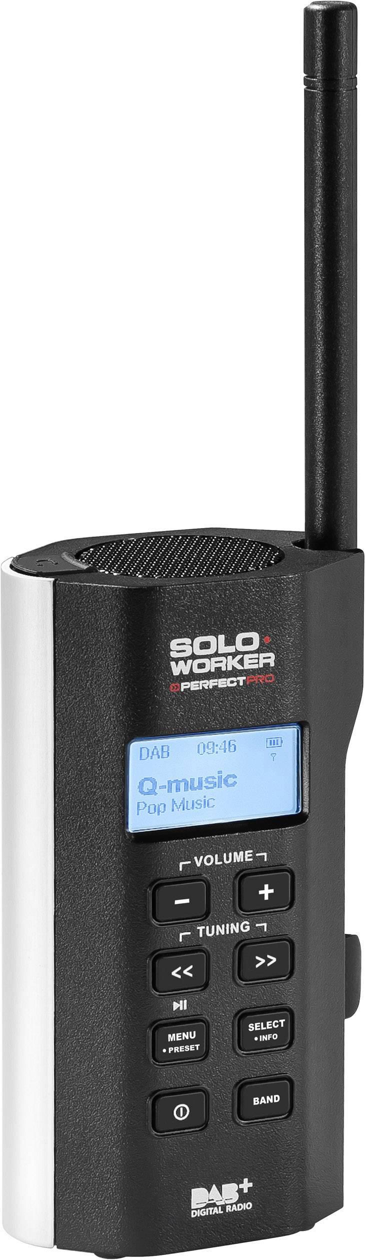 DAB+ rádio na stavbu PerfectPro Soloworker DAB+ AUX čierna