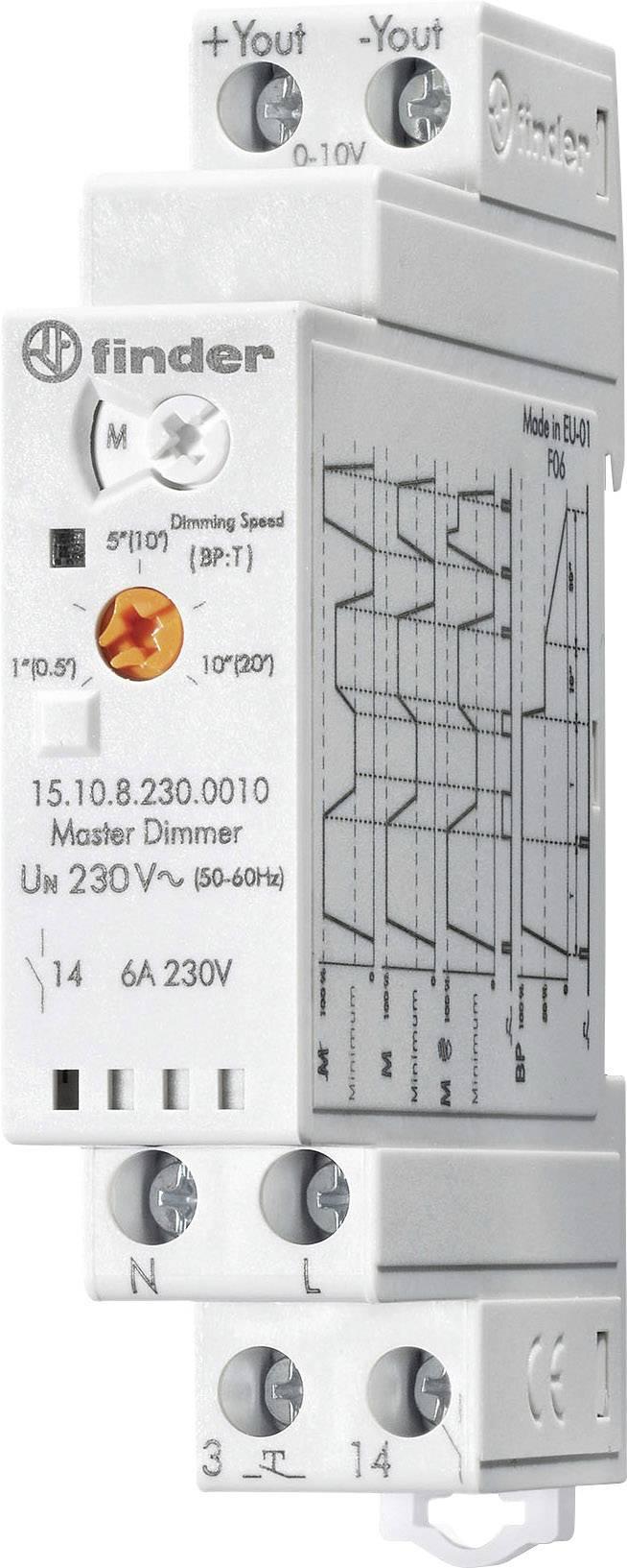 Stmívač na DIN lištu Finder 15.10.8.230.0010, 230 V/AC, 1 ks
