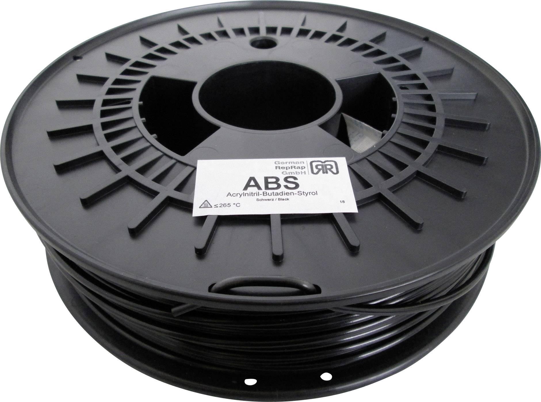 Vlákno pre 3Dtlačiarne, German RepRap 100374, ABS plast , 3 mm, 750 g, čierna