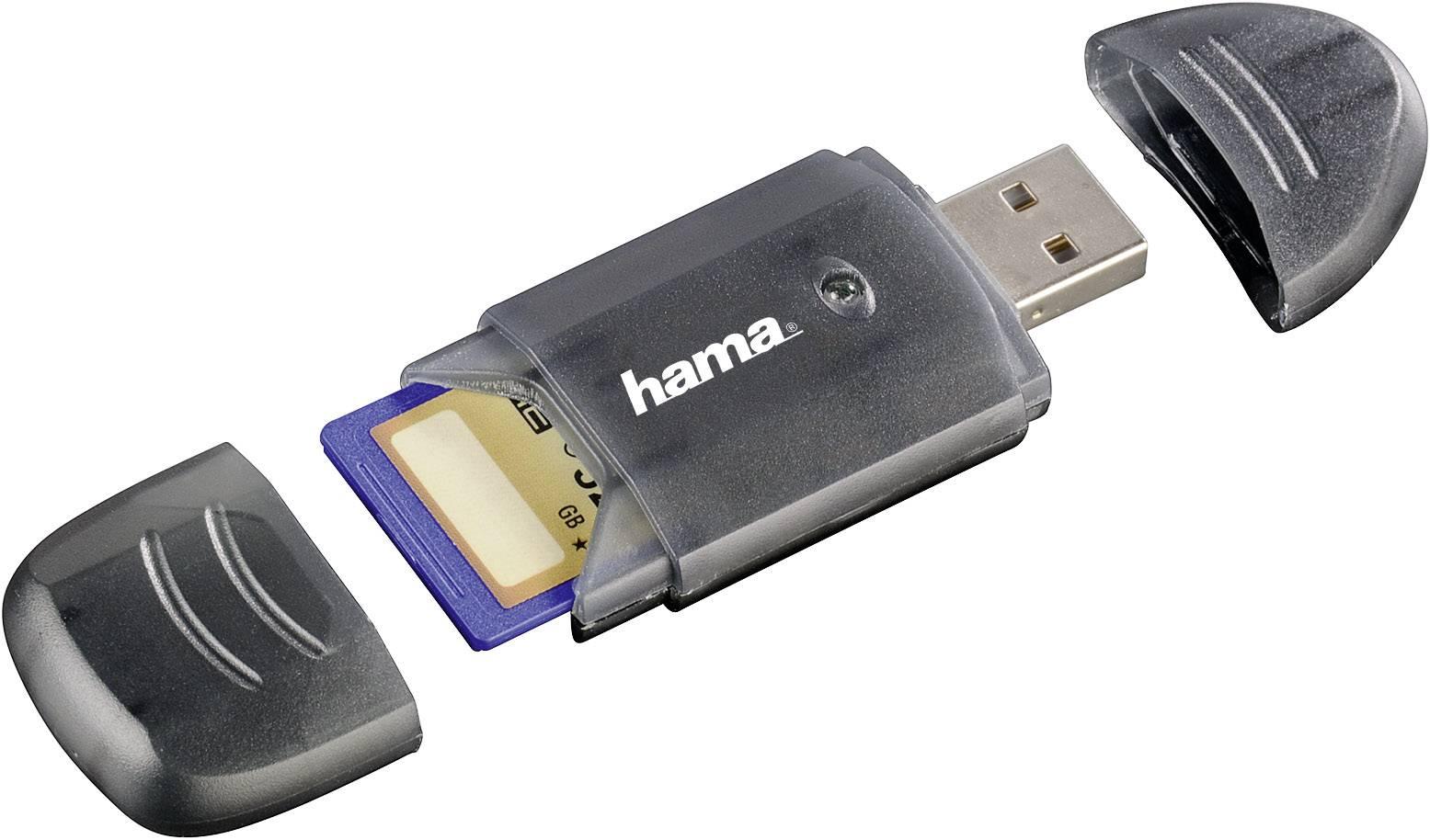 Externí čtečka paměťových karet Hama 114731 114731, USB 2.0, antracitová