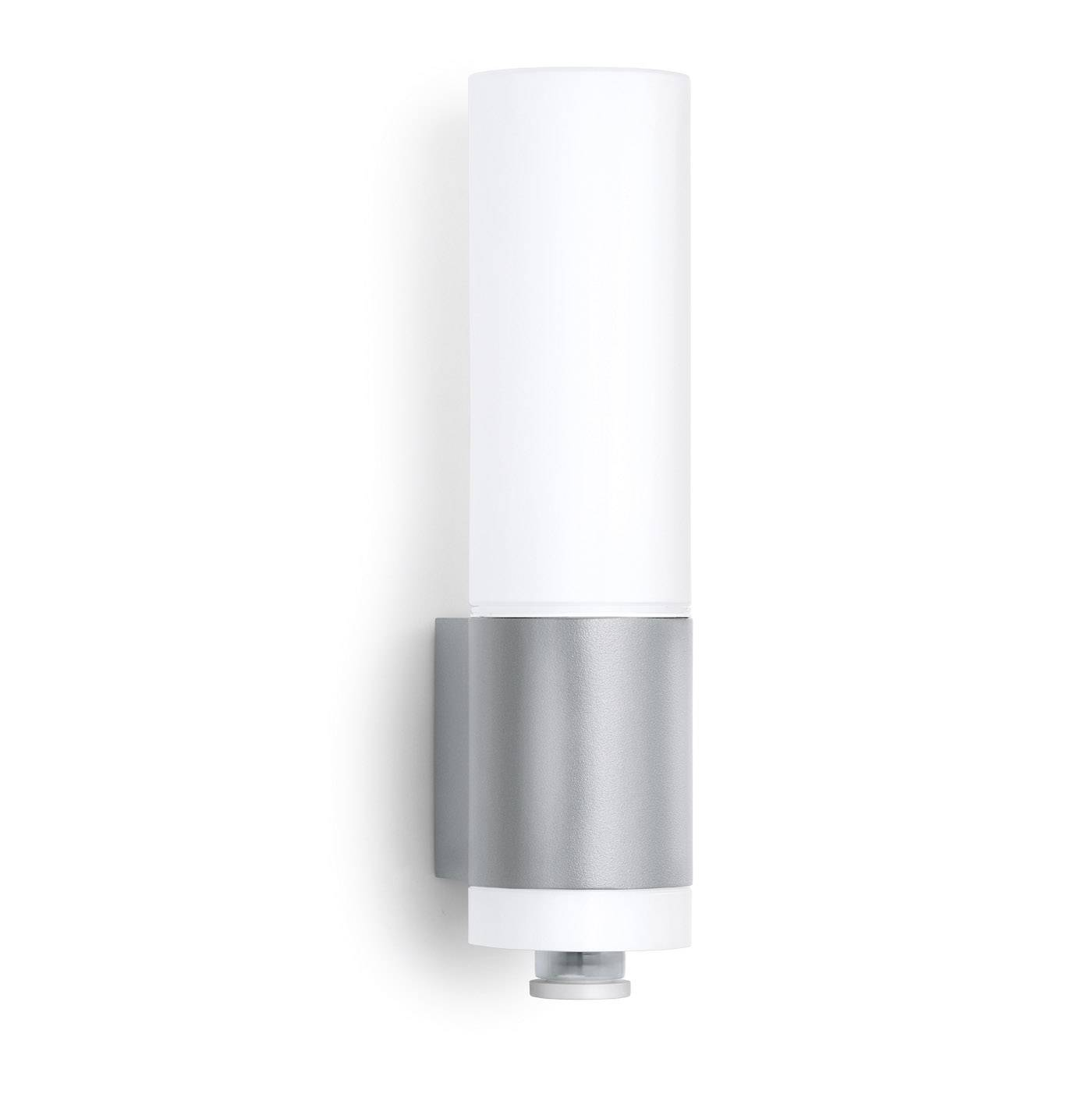 LEDvonkajšienástennéosvetleniesPIR senzorom 8.5 W teplá biela Steinel L 265 LED 007898 strieborná