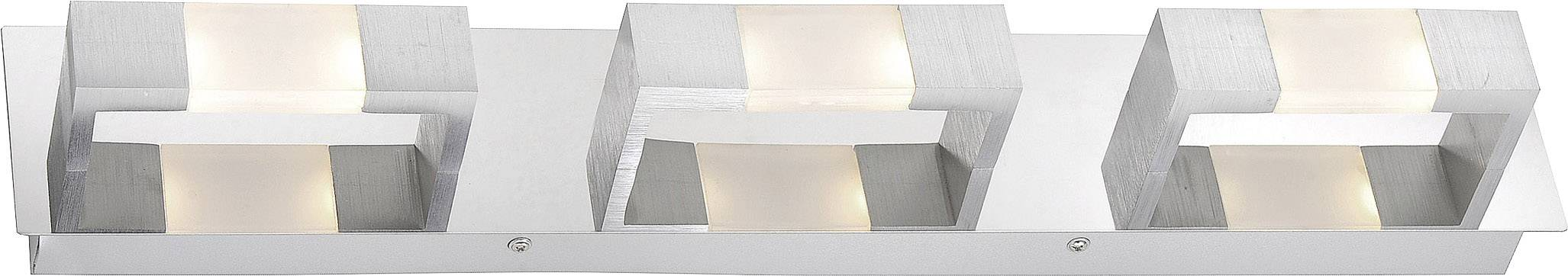 LED nástěnné světlo Paul Neuhaus Kemos 2196-96, 14.4 W, teplá bílá, hliník