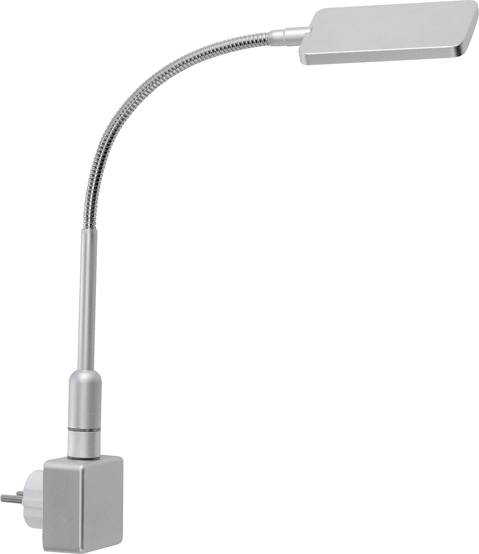 LED svietidlo do zásuvky Paul Neuhaus Juby 4138-55, 3 W, teplá biela, oceľová