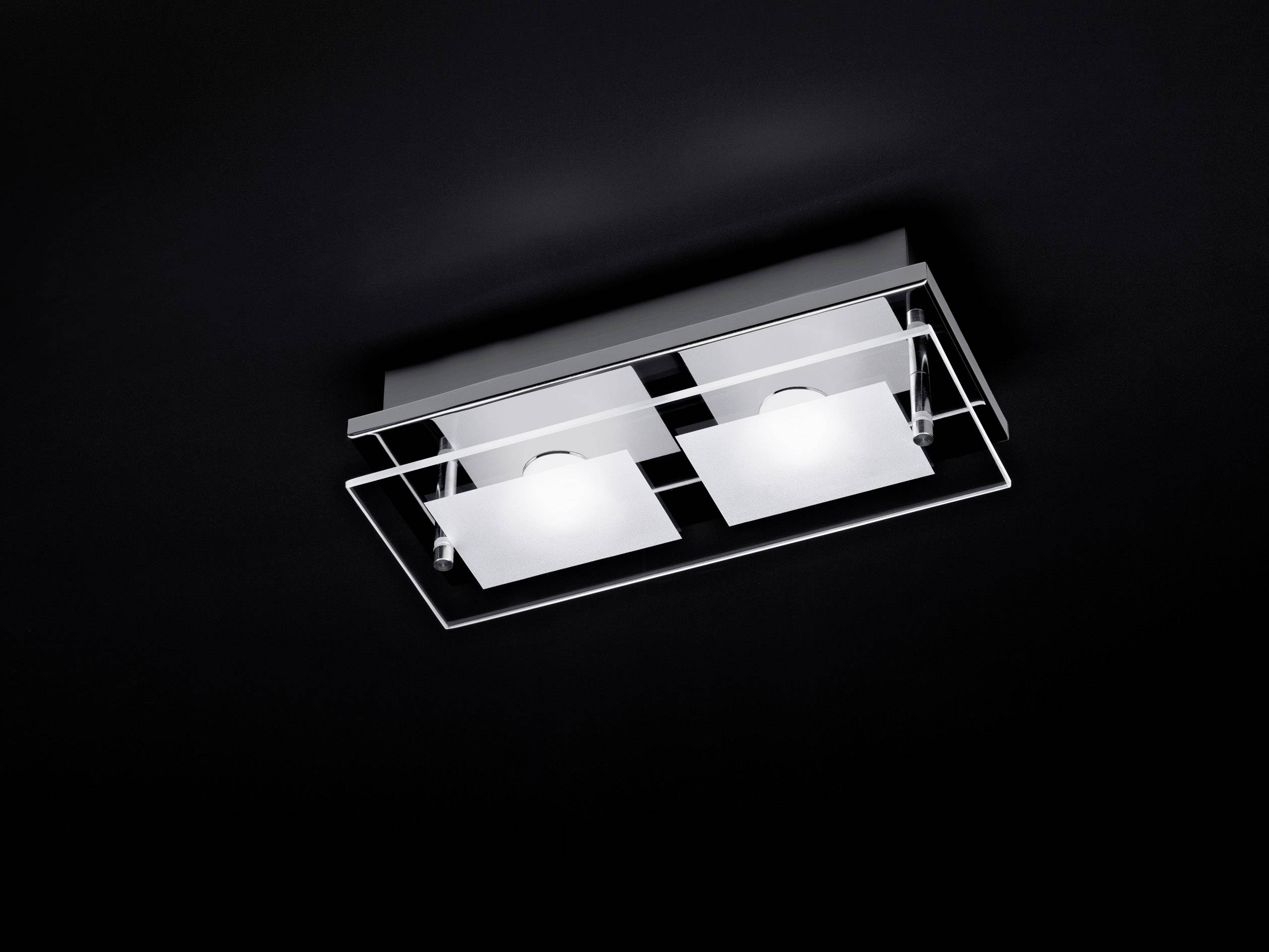 LED stropné svietidlo Paul Neuhaus Chiron 6034-17, 6.6 W, teplá biela, chróm