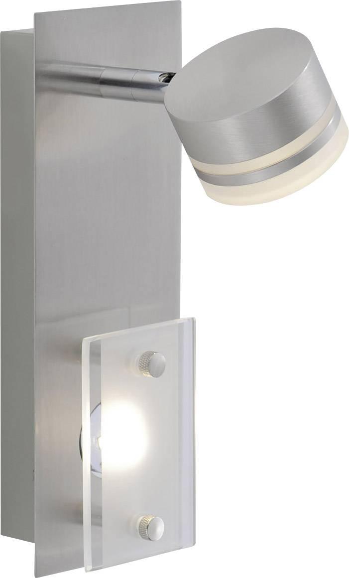 Nástenný LED reflektor Paul Neuhaus Trilok 6315-55, 6.6 W, teplá biela, oceľová