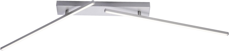 LED stropné svietidlo Paul Neuhaus Inigo 6647-55, 10 W, teplá biela, oceľová