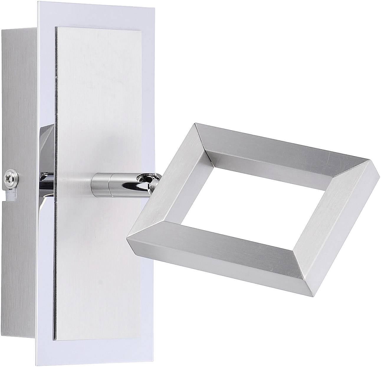 Nástěnný LED reflektor Brilliant Inigo 6957-55, 5 W, teplá bílá, ocelová