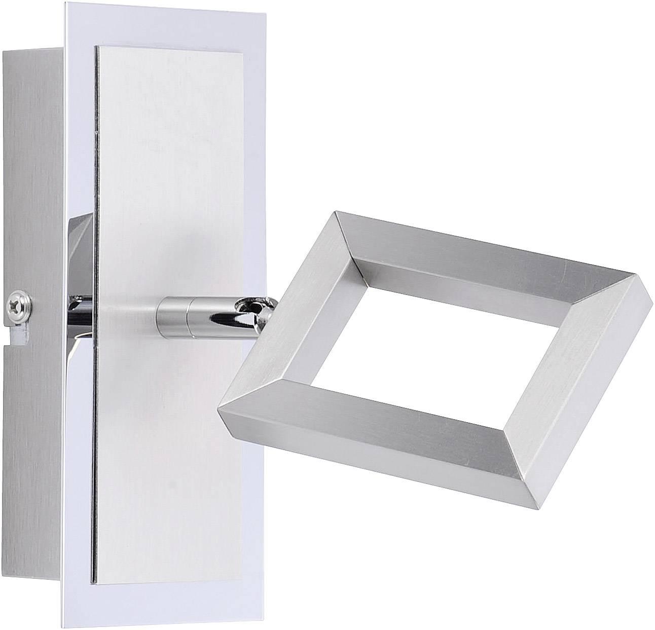Nástenný LED reflektor Brilliant Inigo 6957-55, 5 W, teplá biela, oceľová