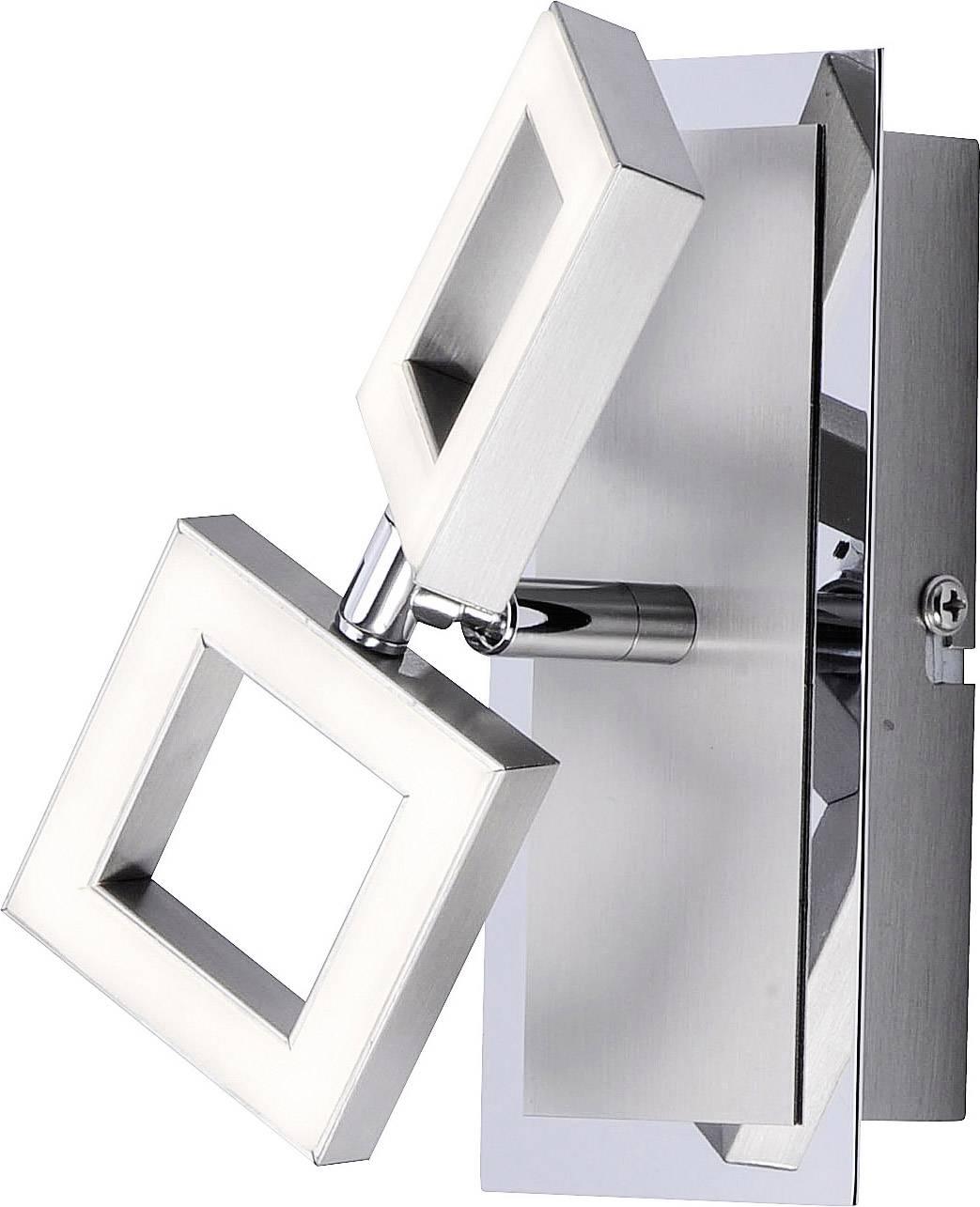 LED nástenné svetlo Paul Neuhaus Twins 9005-55, 5 W, teplá biela, oceľová