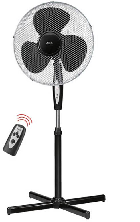 Stojanový ventilátor AEG 5668 S, 45 W, černá, stříbrná