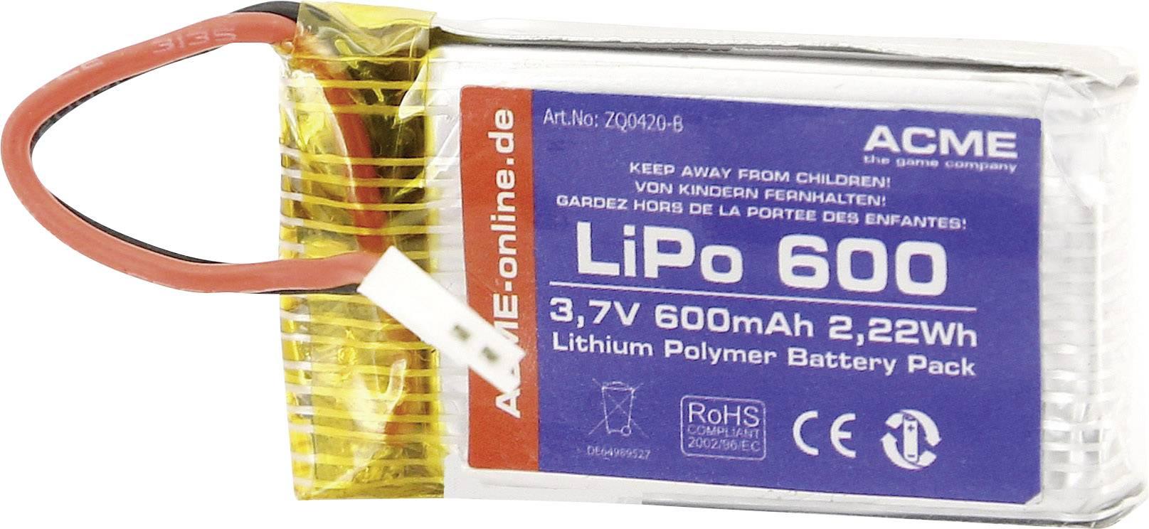 Akupack Li-Pol ACME ZQ0420-B, 3.7 V, 600 mAh