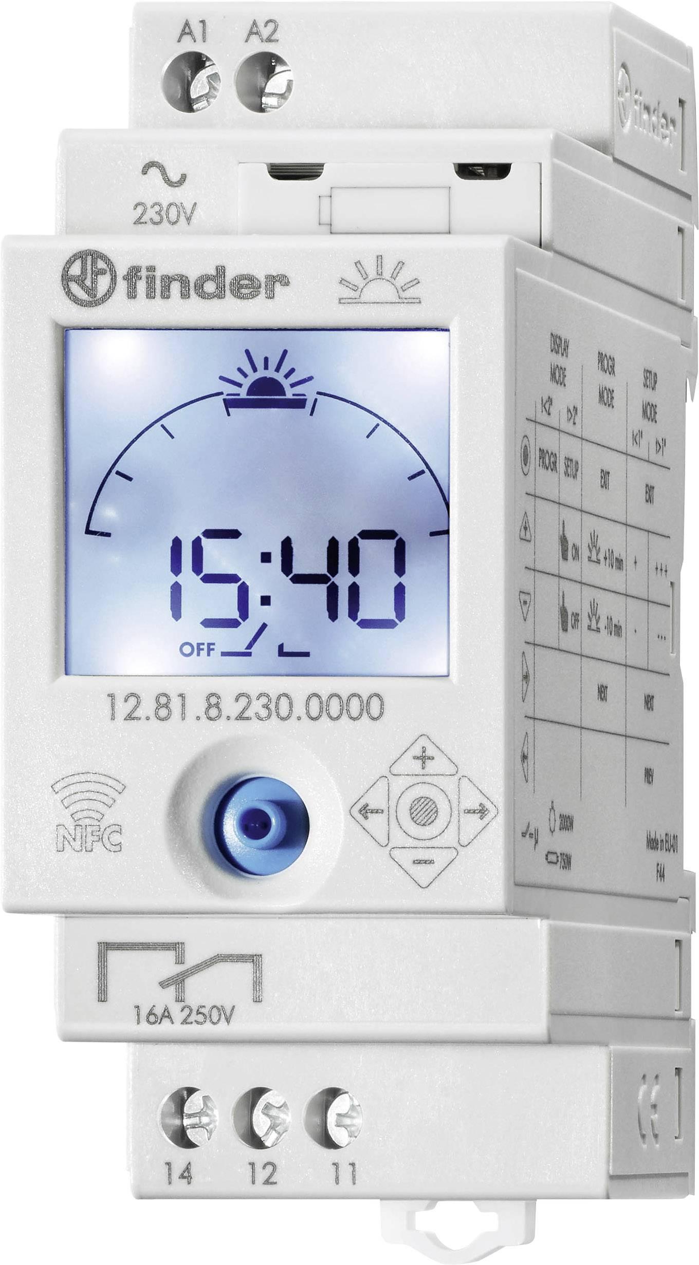 Časové relé - časovač Finder 12.81.8.230.0000 12.81.8.230.0000, 1 ks