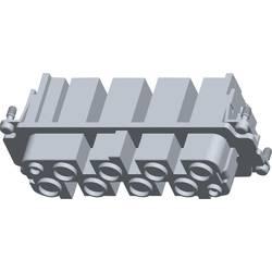 Konektorová vložka, zásuvka HSS TE Connectivity 2-1104202-3, počet kontaktů 8 + 2 + PE, 1 ks