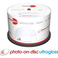 DVD-R 4.7 GB Primeon 2761207, s potiskem, vodotěsný, 50 ks, vřeteno