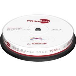 Blu-ray BD-R DL 50 GB Primeon vřeteno, 2761312, s potiskem, 10 ks