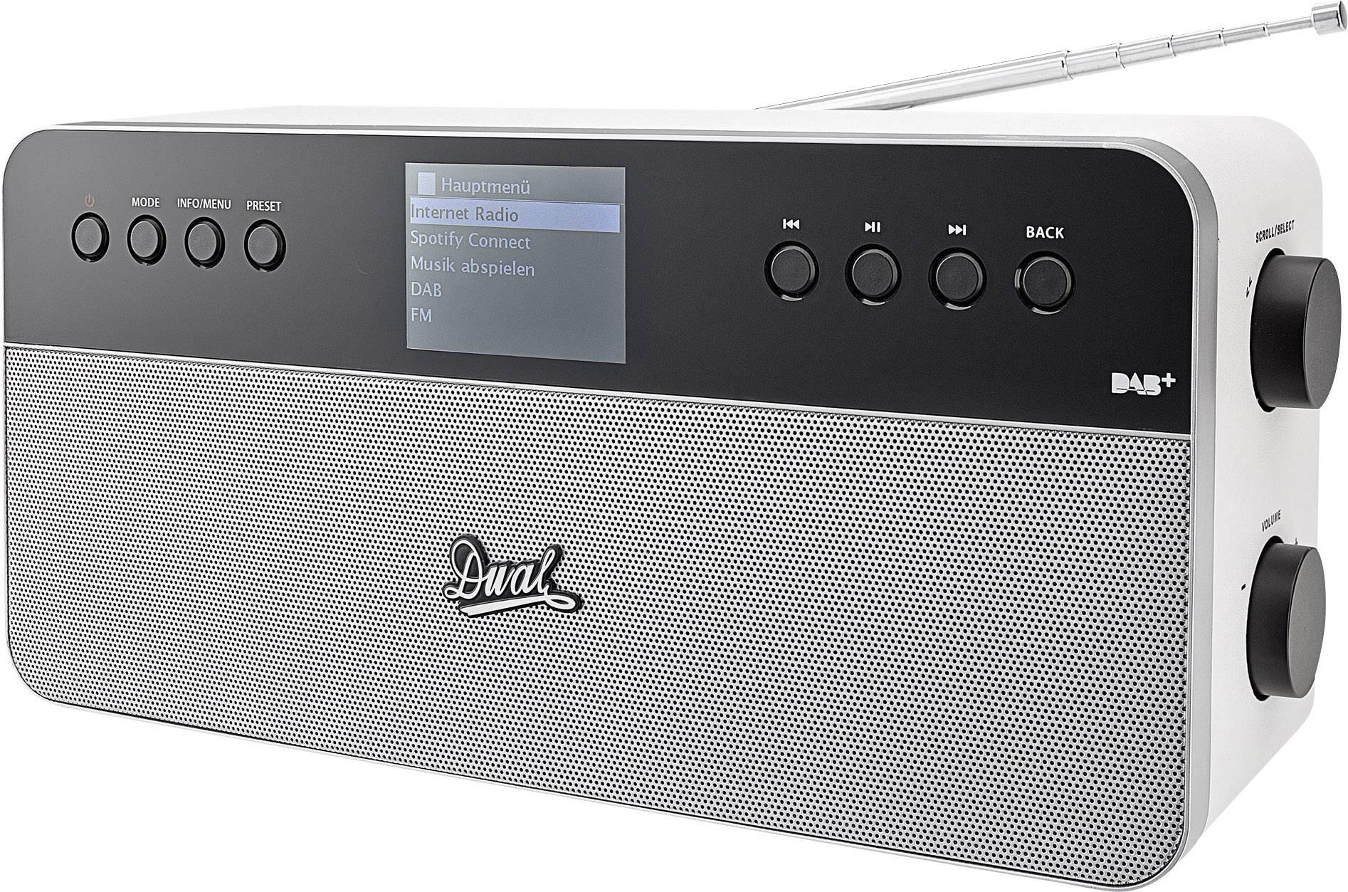 Internetové stolní rádio Dual IR 6S Plus Spotify bílá, stříbrná