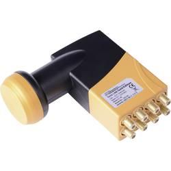 Satelitní konvertor pro připojení 8 SAT příjímačů Octo LNB Microelectronic 260006 Počet účastníků: 8 Velikost feedu: 40 mm pozlacené konektory