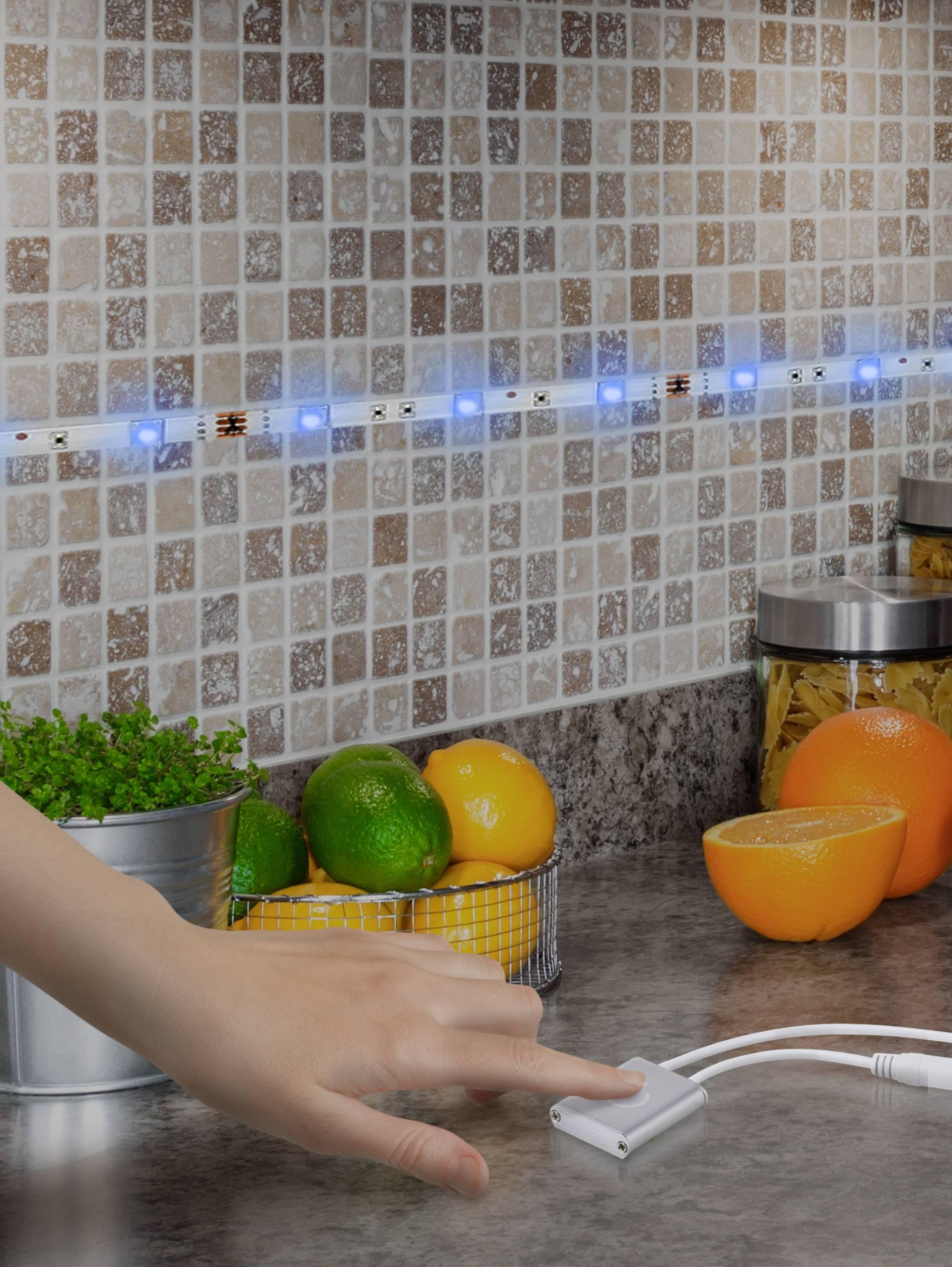 Dotykový stmievač pre LED pásky RENKFORCE, 12 V / 24 V, 3 A, biela