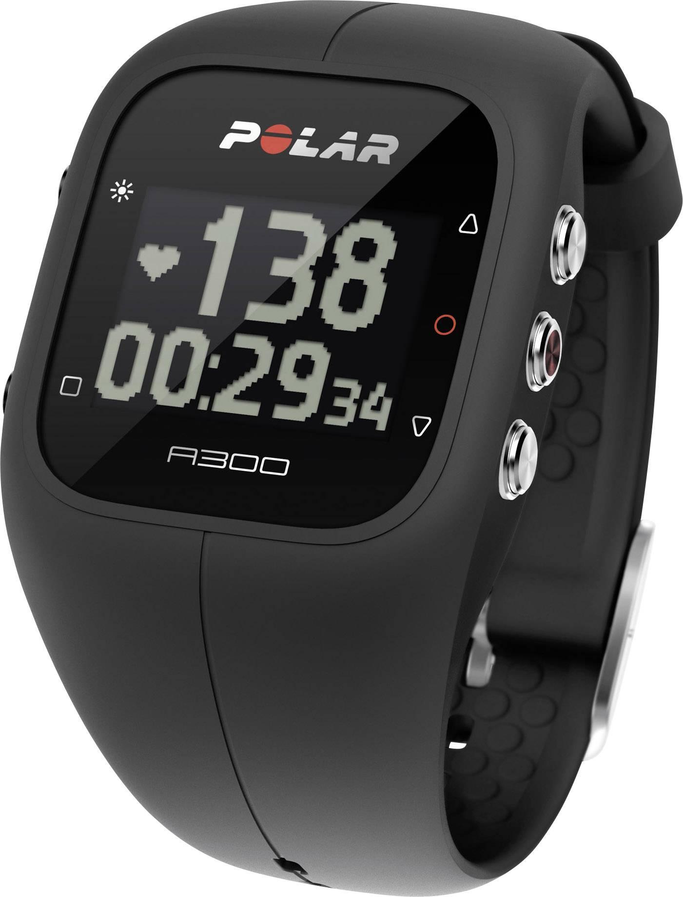 Polar Bracelet A300 charcoal black čierna