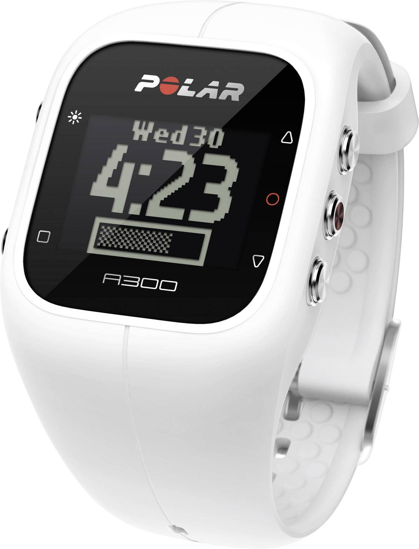 Polar A300 Powder White Armband biela