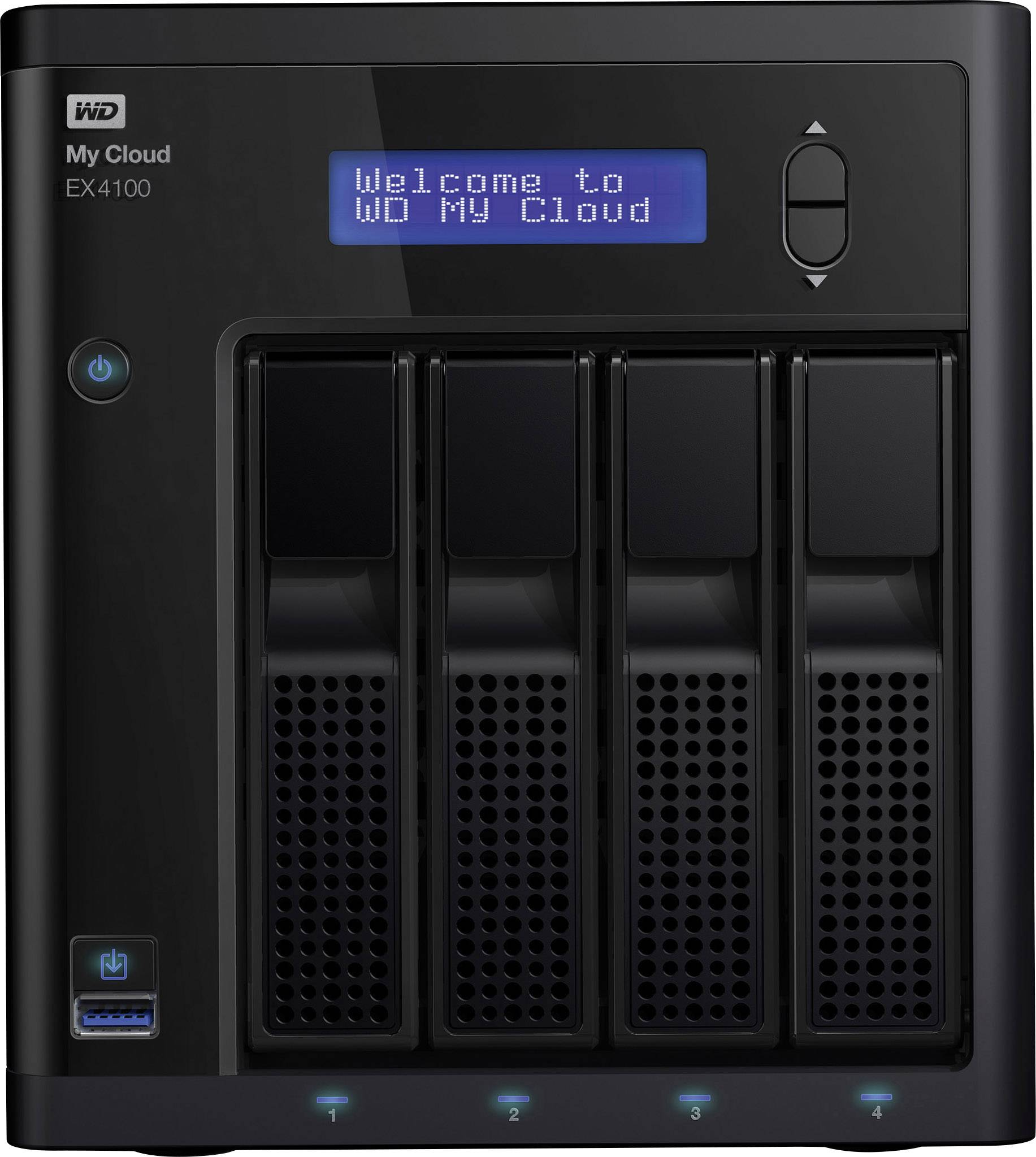 NAS server Western Digital My Cloud™-Profiserie EX4100 WDBWZE0000NBK-EESN