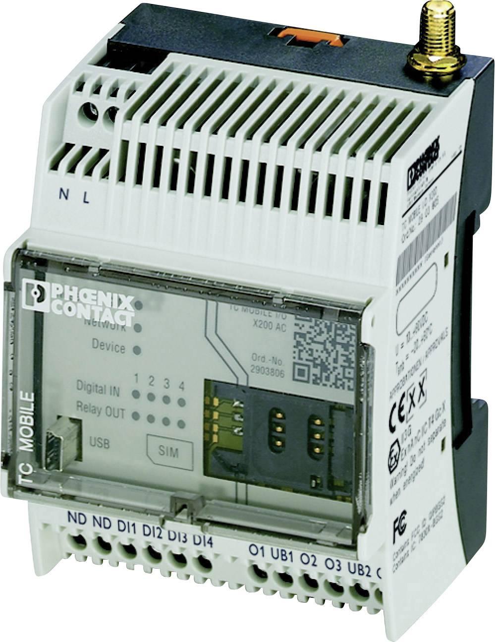 SMS relé Phoenix Contact TC MOBILE I/O X300 AC