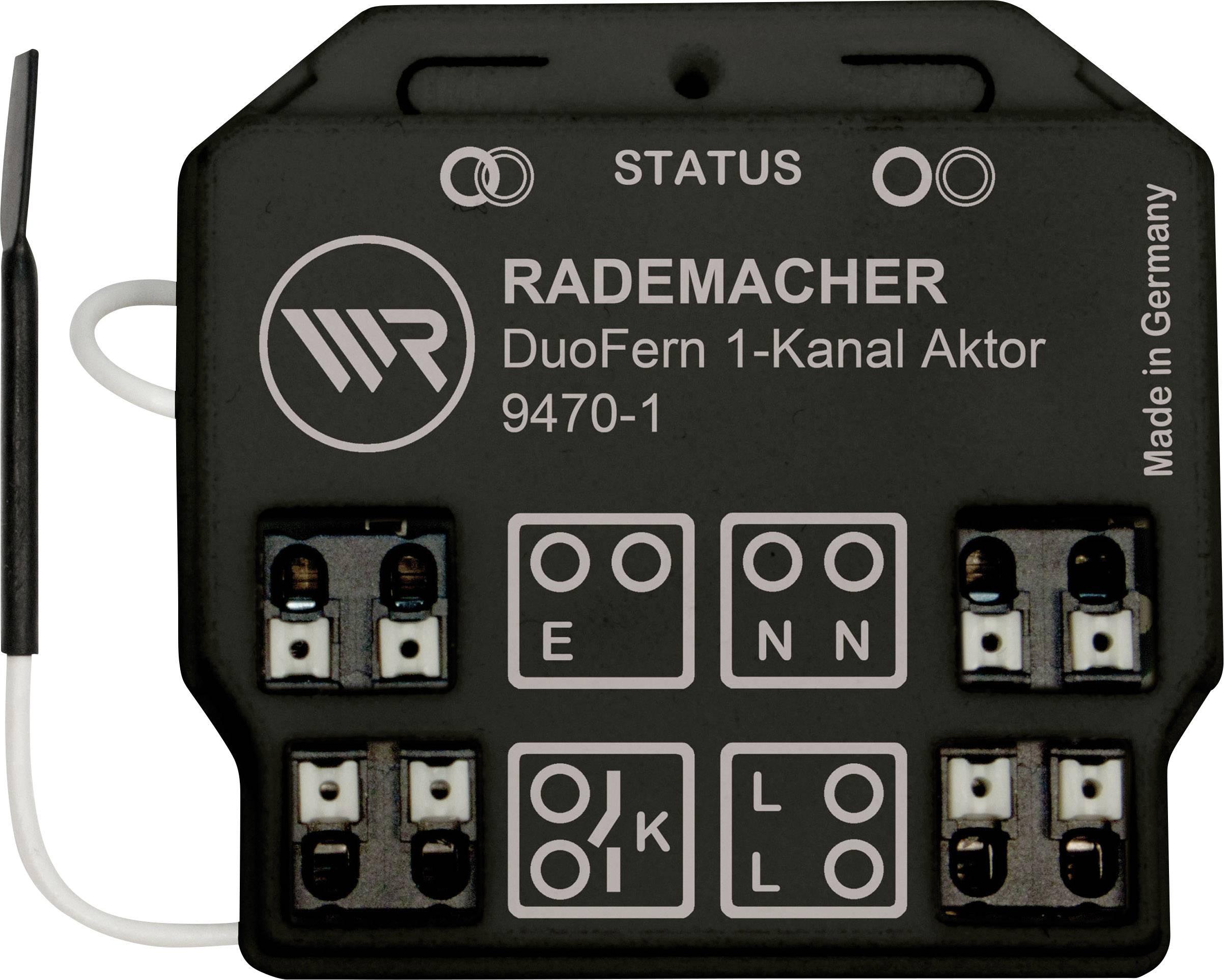 Bezdrôtový spínač pod omietku WR Rademacher Rademacher DuoFern 35140261, 1-kanálový