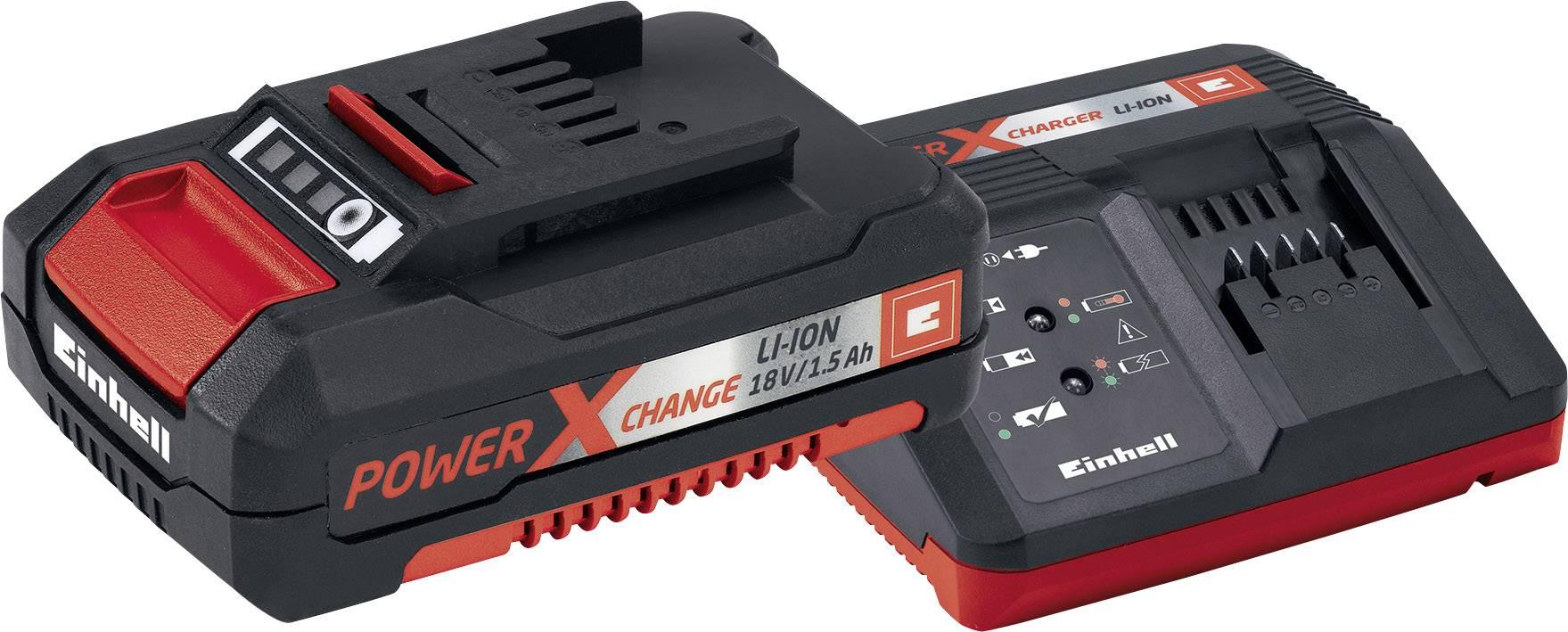 Sada nabíječky Einhell Power X Change + Li-Ion akupack 18 V/1,5 Ah, 4512021