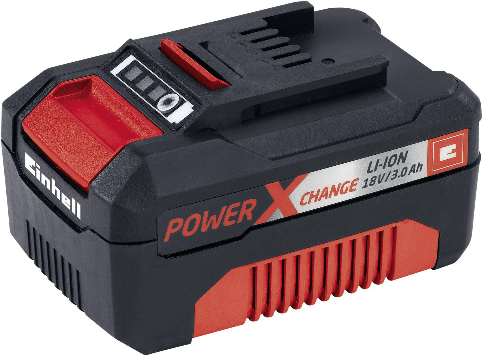 Náhradný akumulátor pre elektrické náradie, Einhell Power-X-Change 18V 3,0Ah 4511341, 18 V, 3.0 Ah, Li-Ion akumulátor
