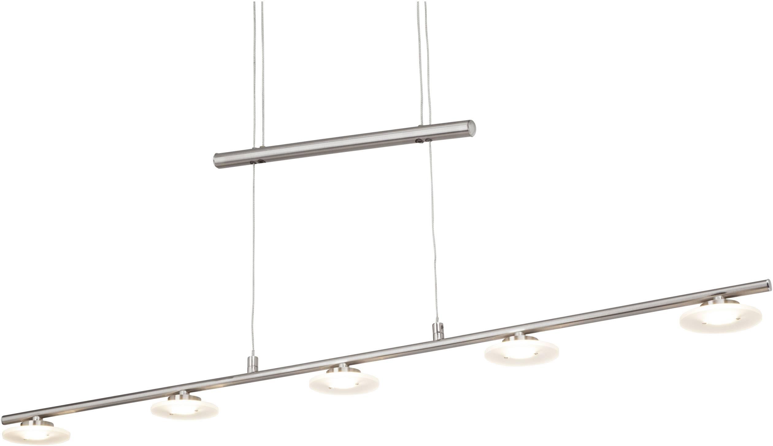 LED závěsný lustr Brilliant Narja G93455/13, 22.5 W, teplá bílá, chrom