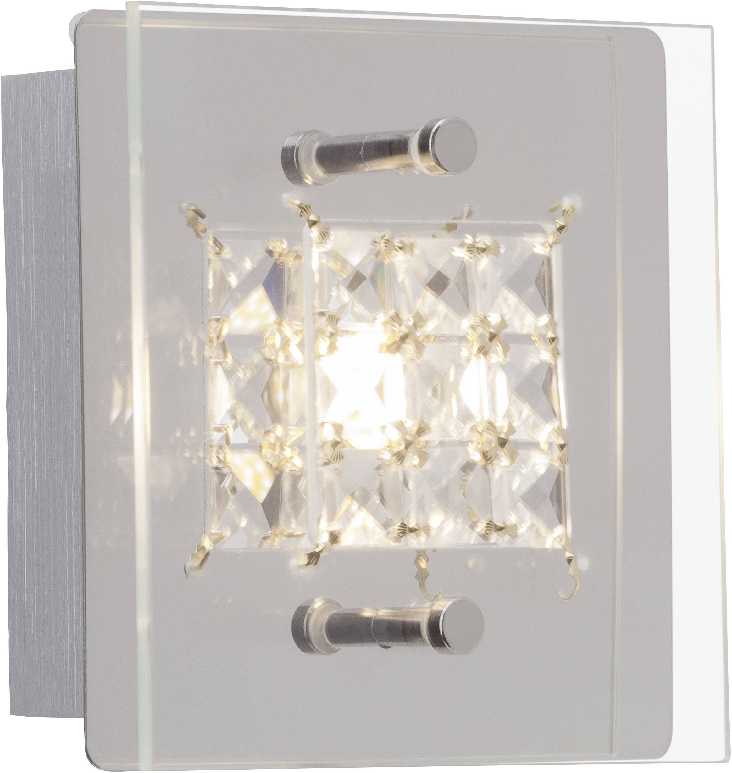 LED nástenné svetlo Brilliant Martino G94264/15, 5 W, teplá biela, chróm