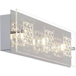 LED stropní svítidlo Brilliant Martino G94266/15, 15 W, teplá bílá, chrom