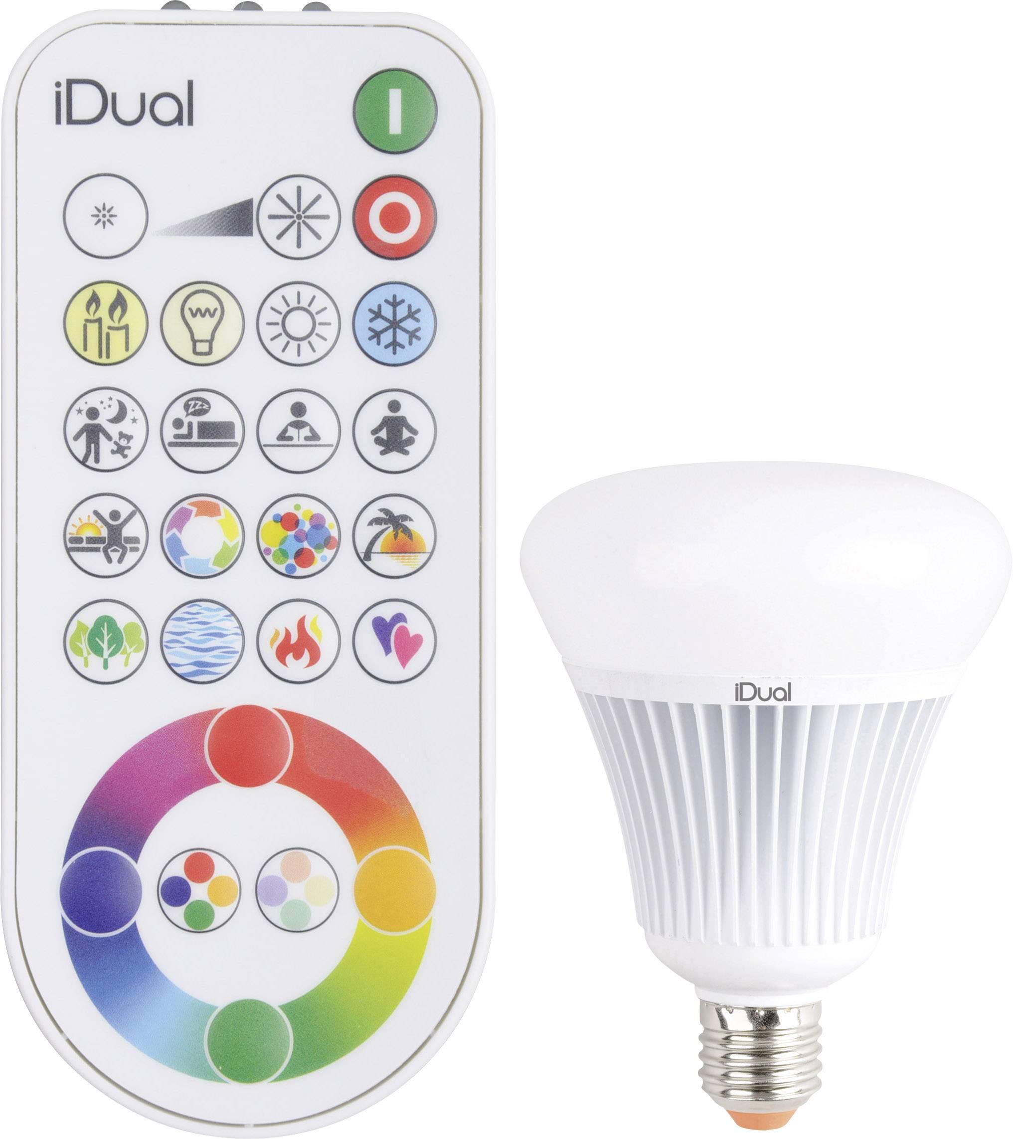 LED žiarovka JEDI Lighting JE0189081 230 V, 16 W = 75 W, RGBW, A, stmievateľná, meniace farbu, 1 ks