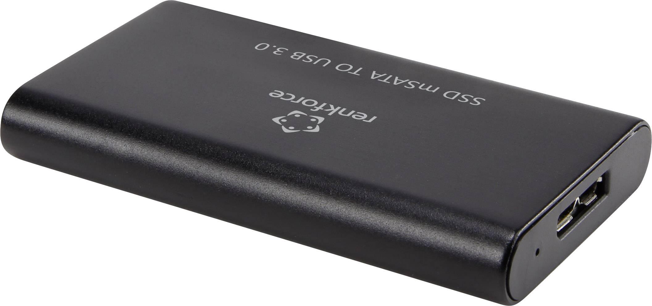 MSATA pouzdro Renkforce BS-MSATA, USB 3.0