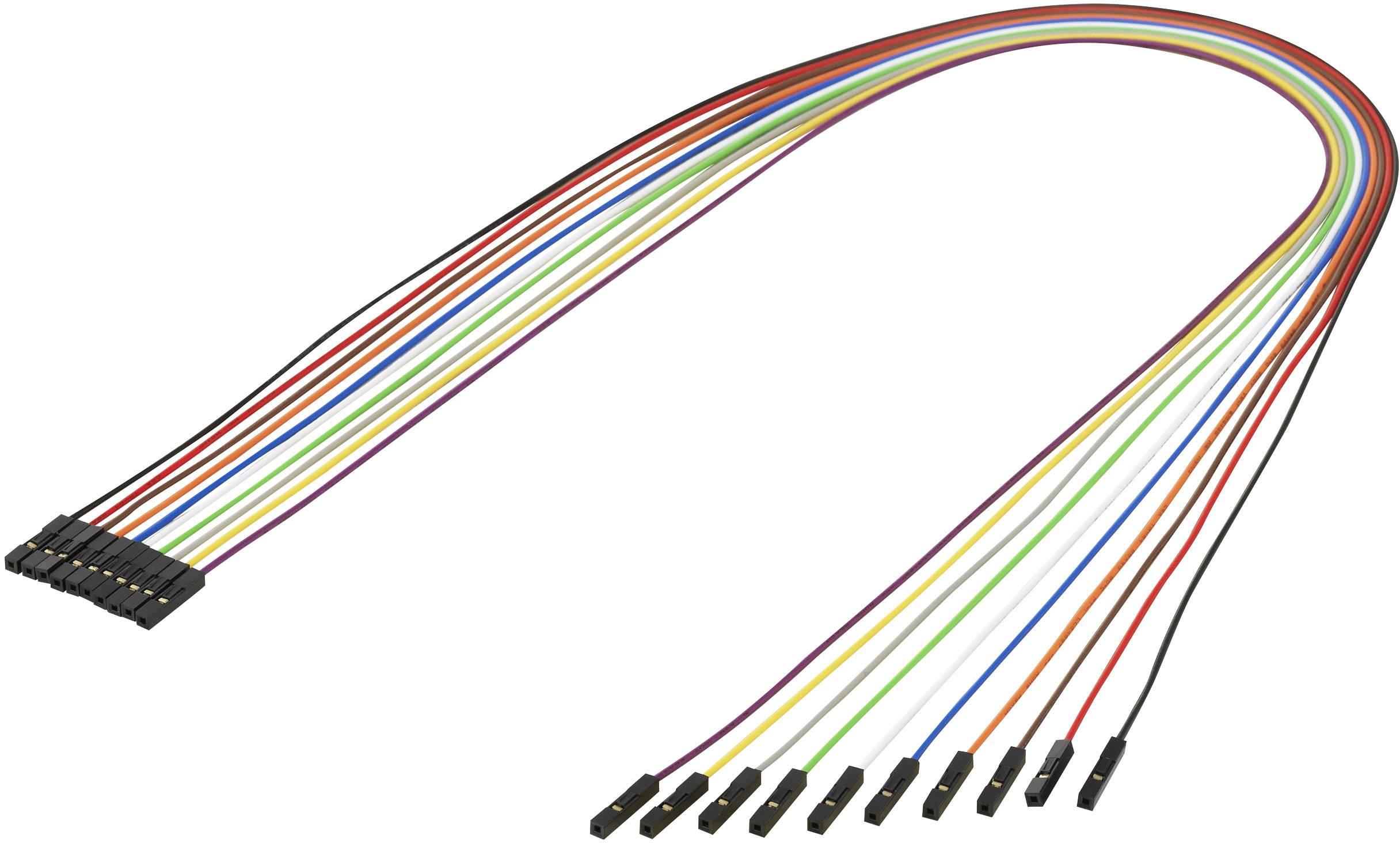 Farebné prepojovacie káble pre mini počítač Raspberry Pi, 10 ks, 50 cm