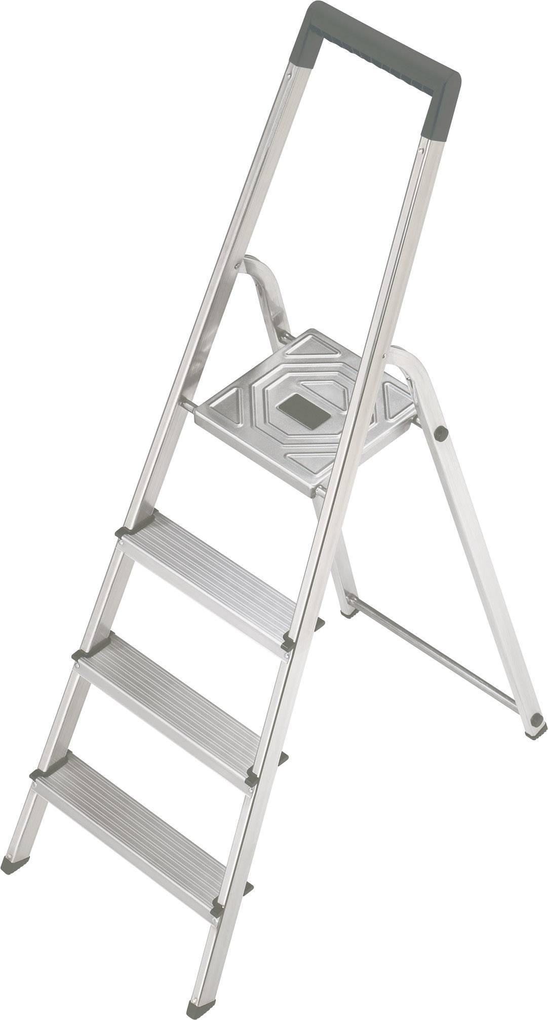 Štafle Hailo S 150 8924-321 max.prac. výška: 2.6 m, hliník, stříbrná