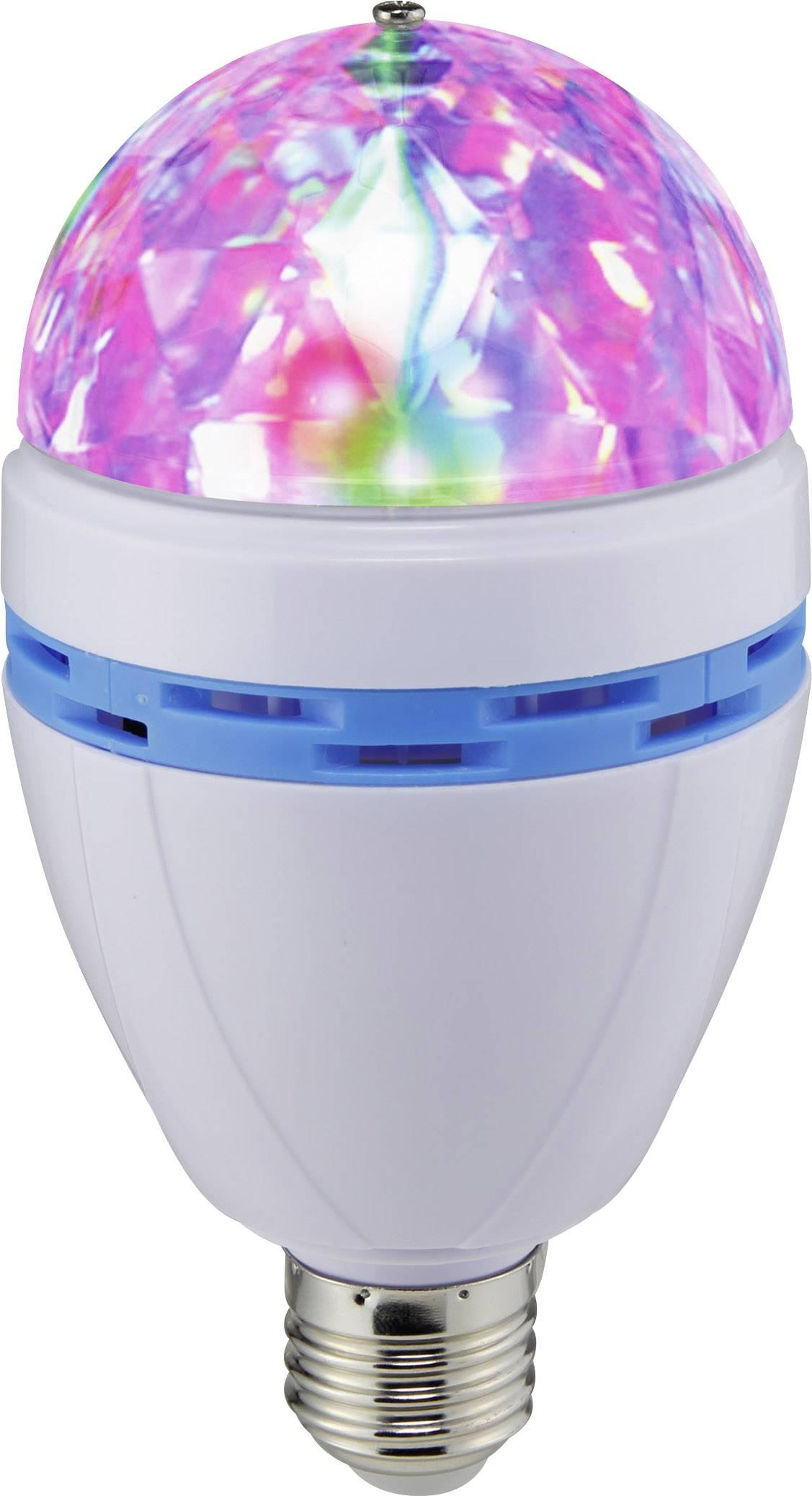 LED farebná party žiarovka Renkforce E27 PARTYLAMP, E27, 1 W, farebná